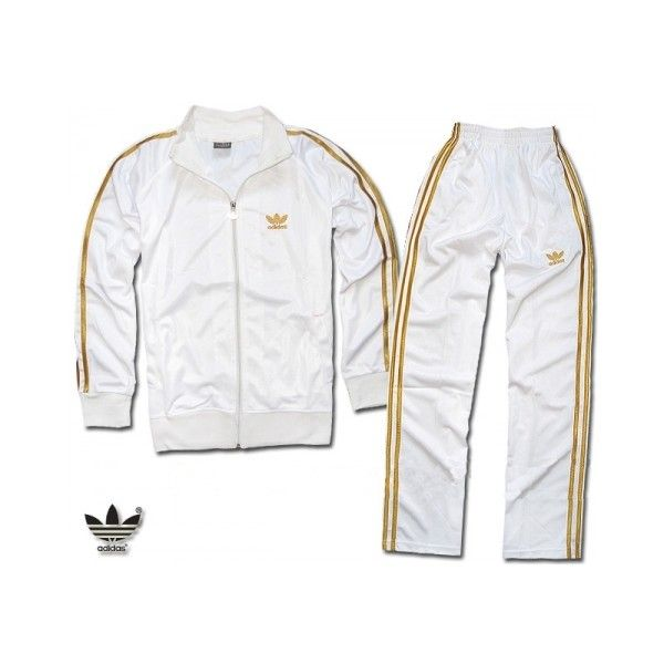 sports shoes 584c0 6bc9e Adidas Tracksuit White With Gold Edge  TC2016  -  25.23   Wholesale Soccer  Jersey - Brand Jersey,Soccer Jersey,Football Jersey,Team Uniforms Supplier  found ...