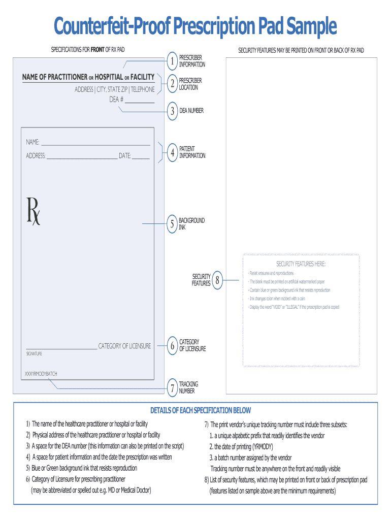 Editable Prescription Template Fill Online Printable For