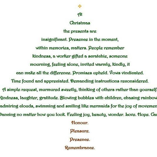 Poem About A Christmas Tree: Shape Poems, Tree Shapes, Poems