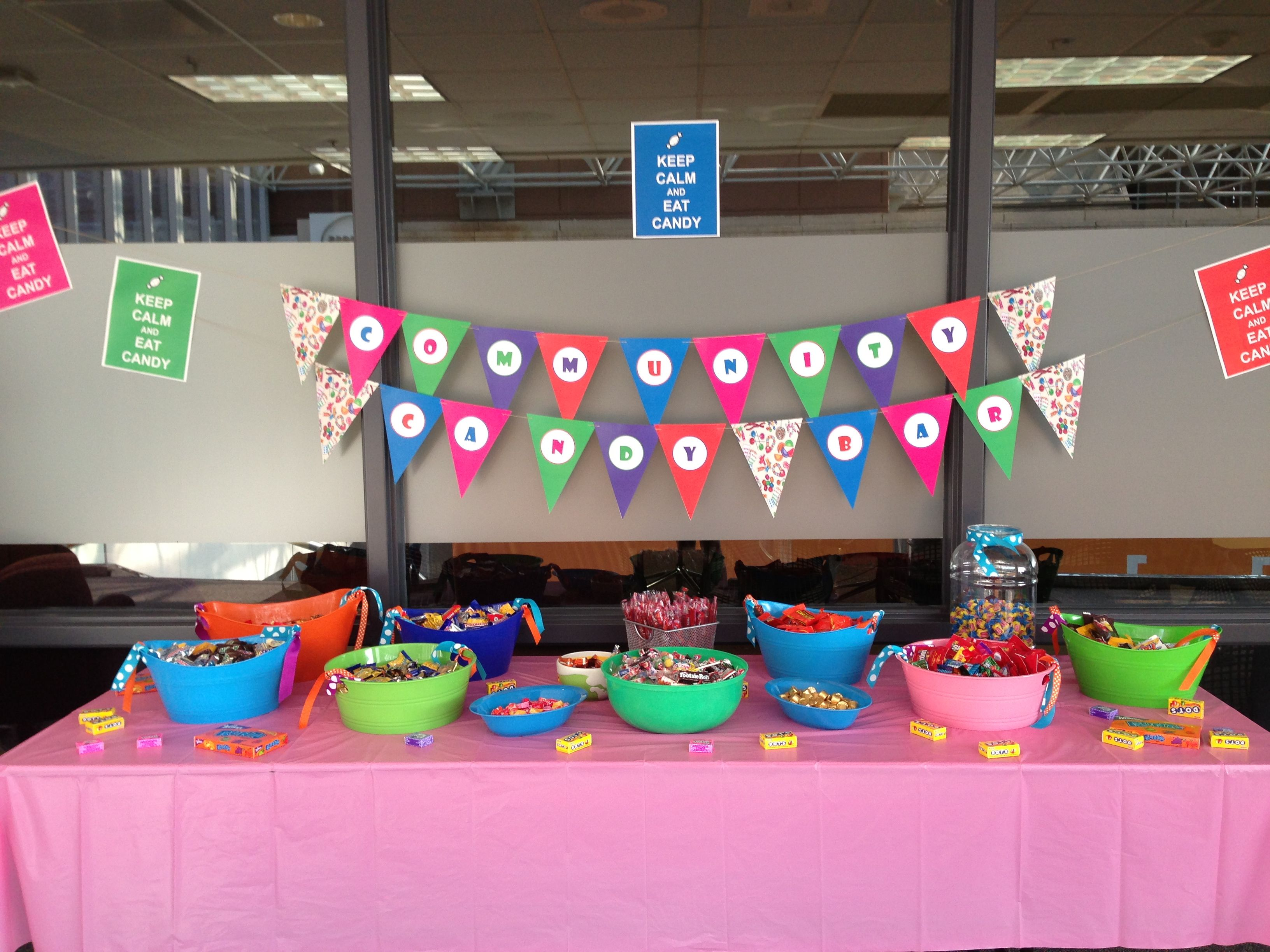 Candy Bar. Work fundraiser for United Way.