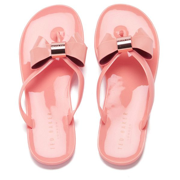 67a85da3e Ted Baker Women s Ettiea Jelly Bow Flip Flops ( 56) ❤ liked on Polyvore  featuring