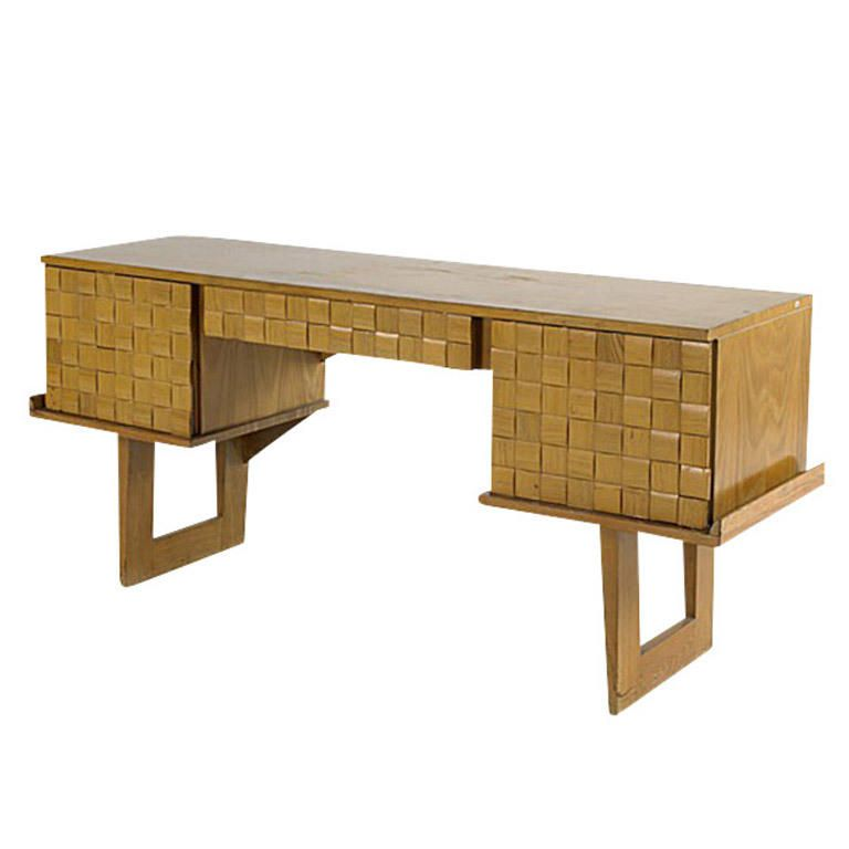 Paul Laszlo Bleached Oak Desk for Brown Saltman – FleaPop – Buy and sell home decor, furniture and antiques