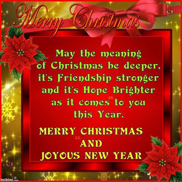 Merry Christmas Quotes for Friends | We Wish You A Merry Christmas ...