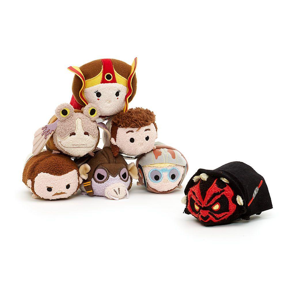 Disney Store Star Wars Qui Gon Jinn Tsum Tsum Plush Mini New Phantom Menace