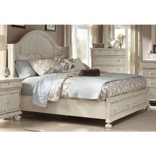 American Woodcrafters Newport 4-Piece Panel Bedroom Set W
