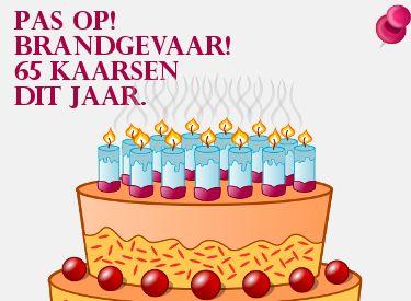 Grappige Verjaardagswens 65 Kaarsjes Dit Jaar Op