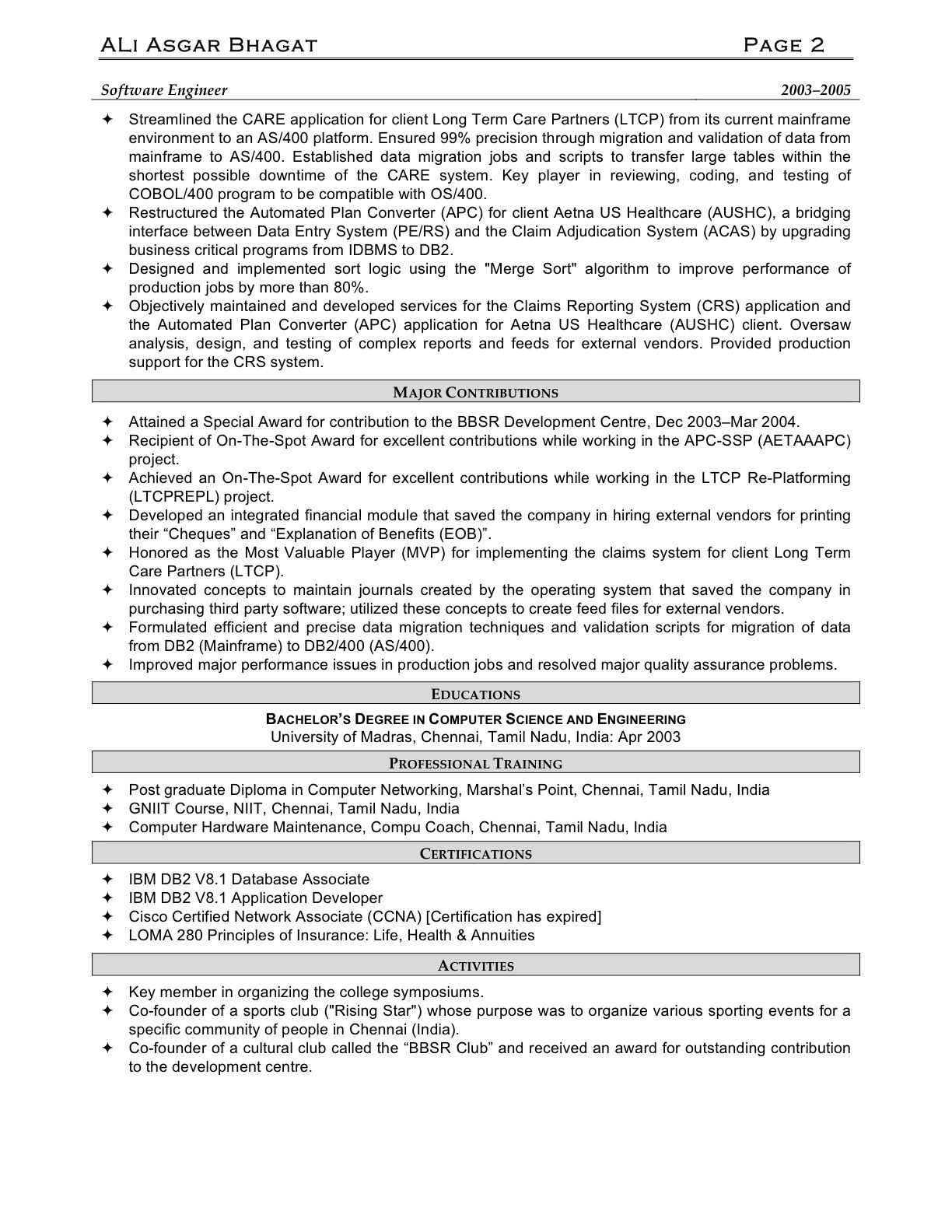 Information Technology Resume 3 Business Plan Outline Creative