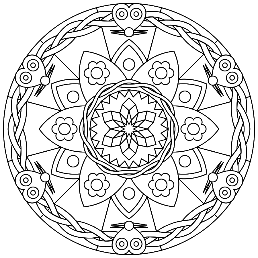 printable mandalas free printable mandalas suitable for young and old printmandala for my. Black Bedroom Furniture Sets. Home Design Ideas