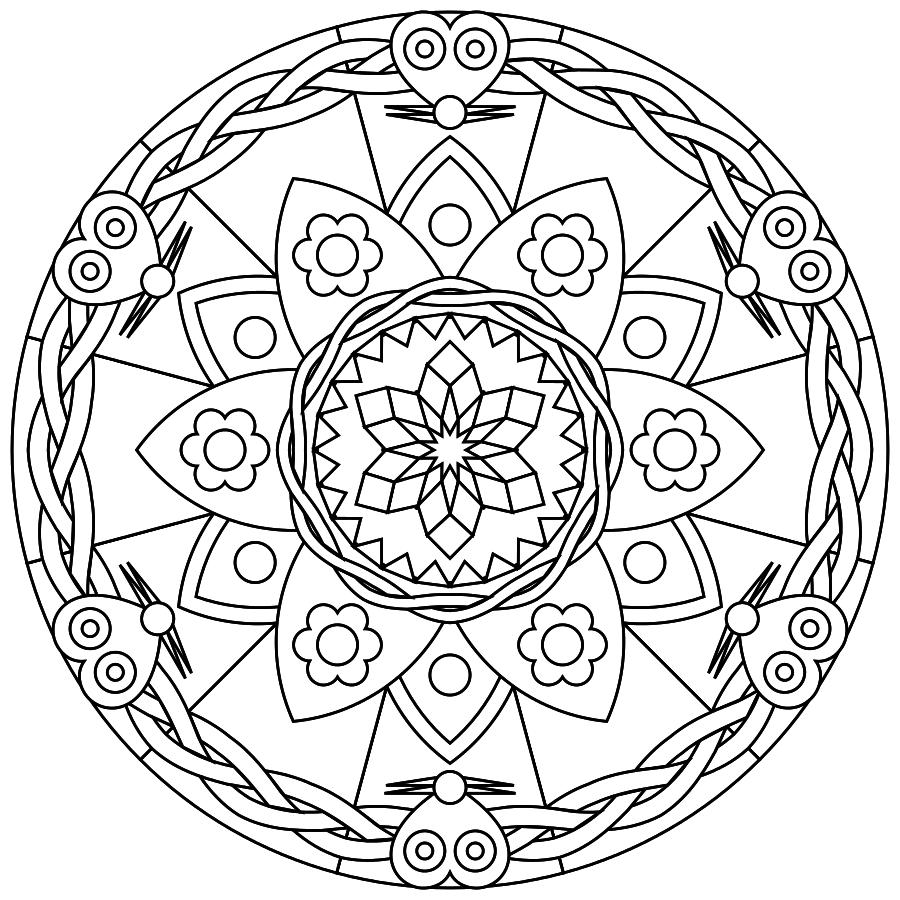 Printable Mandalas - free printable mandalas suitable for young and old.   Printmandala