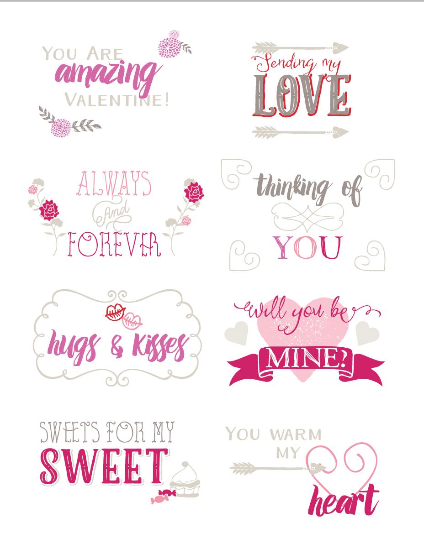 Soft Heart Candies + Valentine Printable Valentines