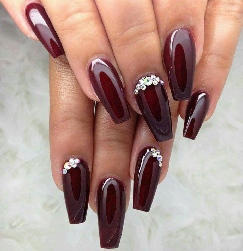 Burgundy | All Burgundy Everything! | Pinterest | Uñas bailarina ...