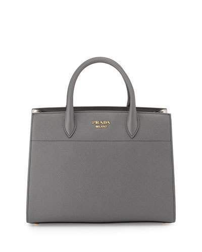 51ff12f64d31 discount code for prada medium pleated sides top handle satchel bag dark  gray white 36a58 36b0e