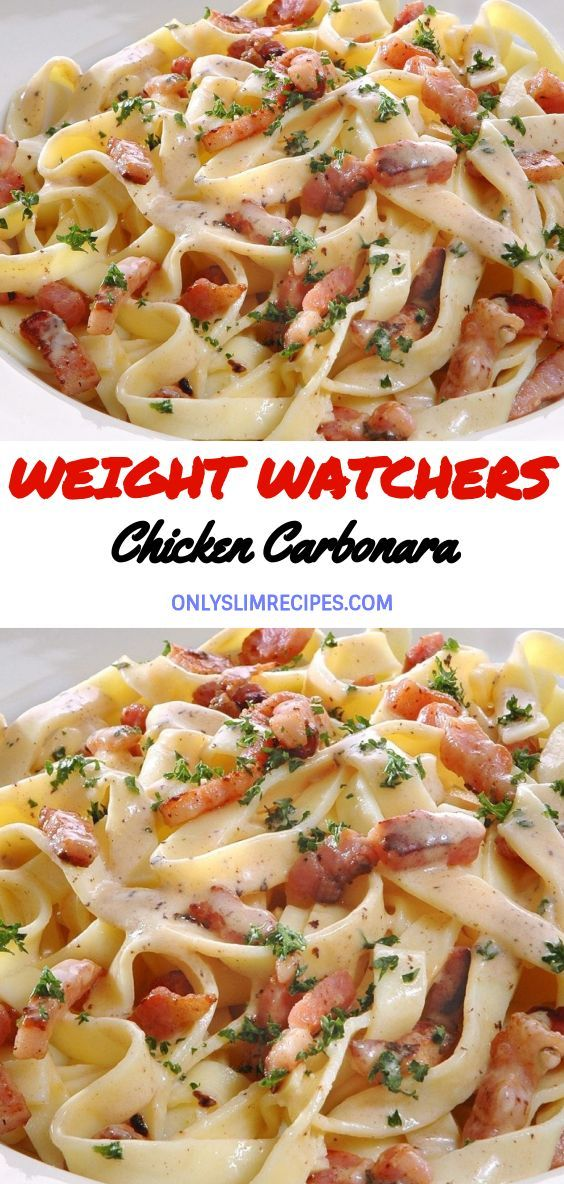 Weight Watchers Chicken Carbonara //