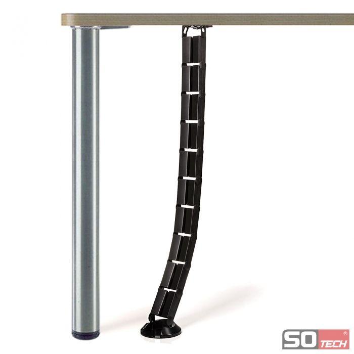 SO-TECH® Schreibtisch Kabelkanal Kabelführung eckig 62 x 25 mm ...
