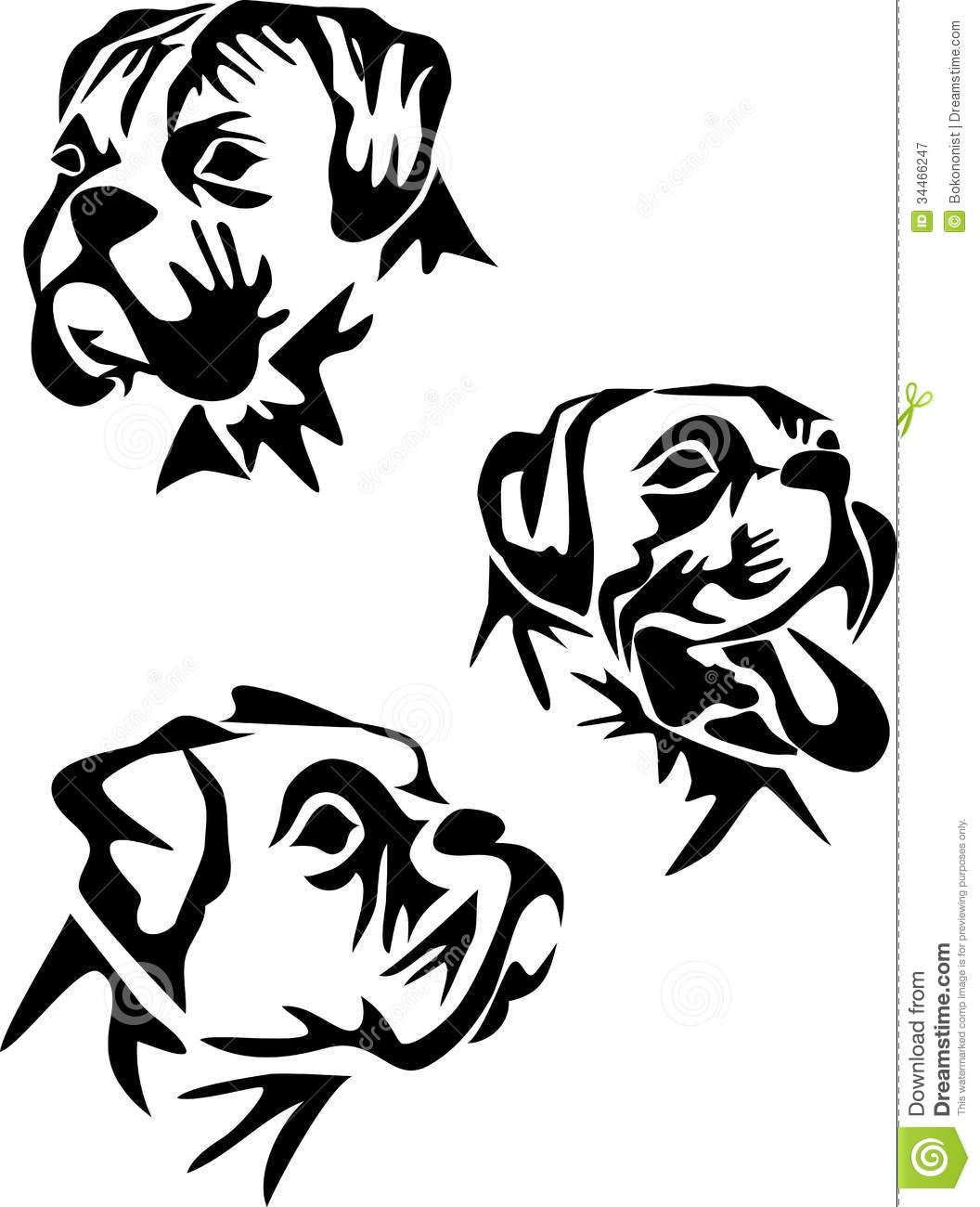 Boxer Dog Face Coloring Page