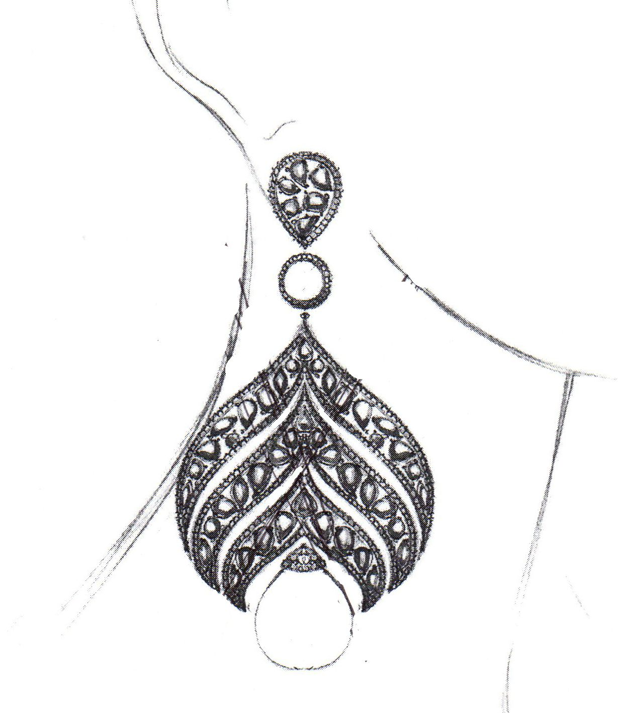 Sketch Of An Elegant New Couture Design Weu0026#39;re Looking To Debut Soon! #design #jewelry | Designer ...