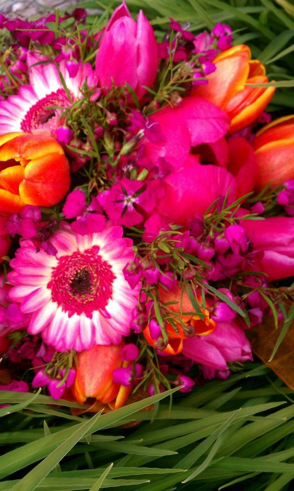 Orange Crush Bridesmaids Bouquet