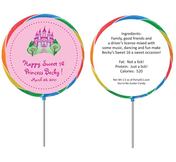 fairy tale sweet 16 invitations princess castle theme lollipop