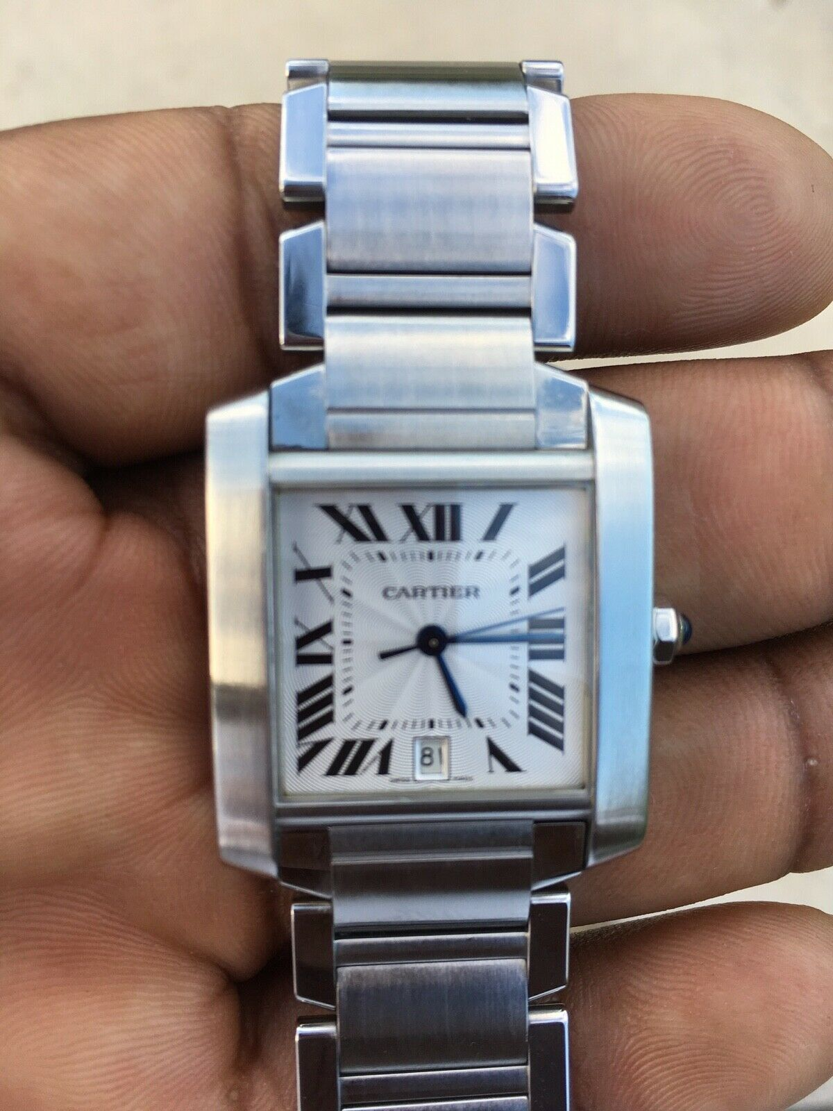 0bd5828921cf  FORSALE Pre-owned CARTIER TANK FRANCAISE Stainless Steel REF 2302  Automatic MENS WATCH