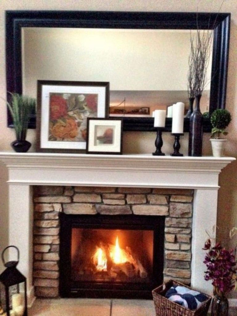 Nice Photo Rusticfireplace Brick Fireplace Decor Fireplace Mantel Decor Fireplace Mantle Decor