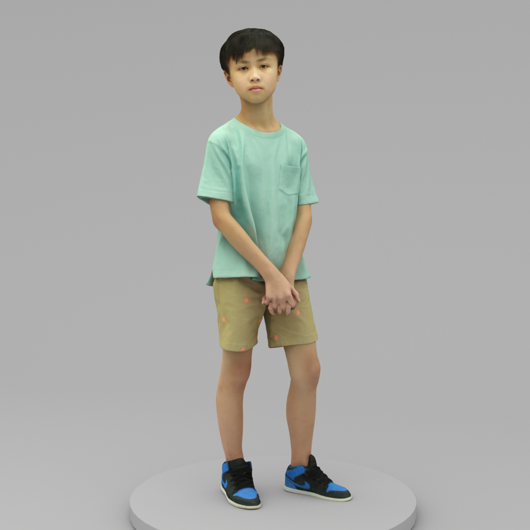 A Cool Boy Standing Alone Scan3dmall Boys Standing Alone Man Standing