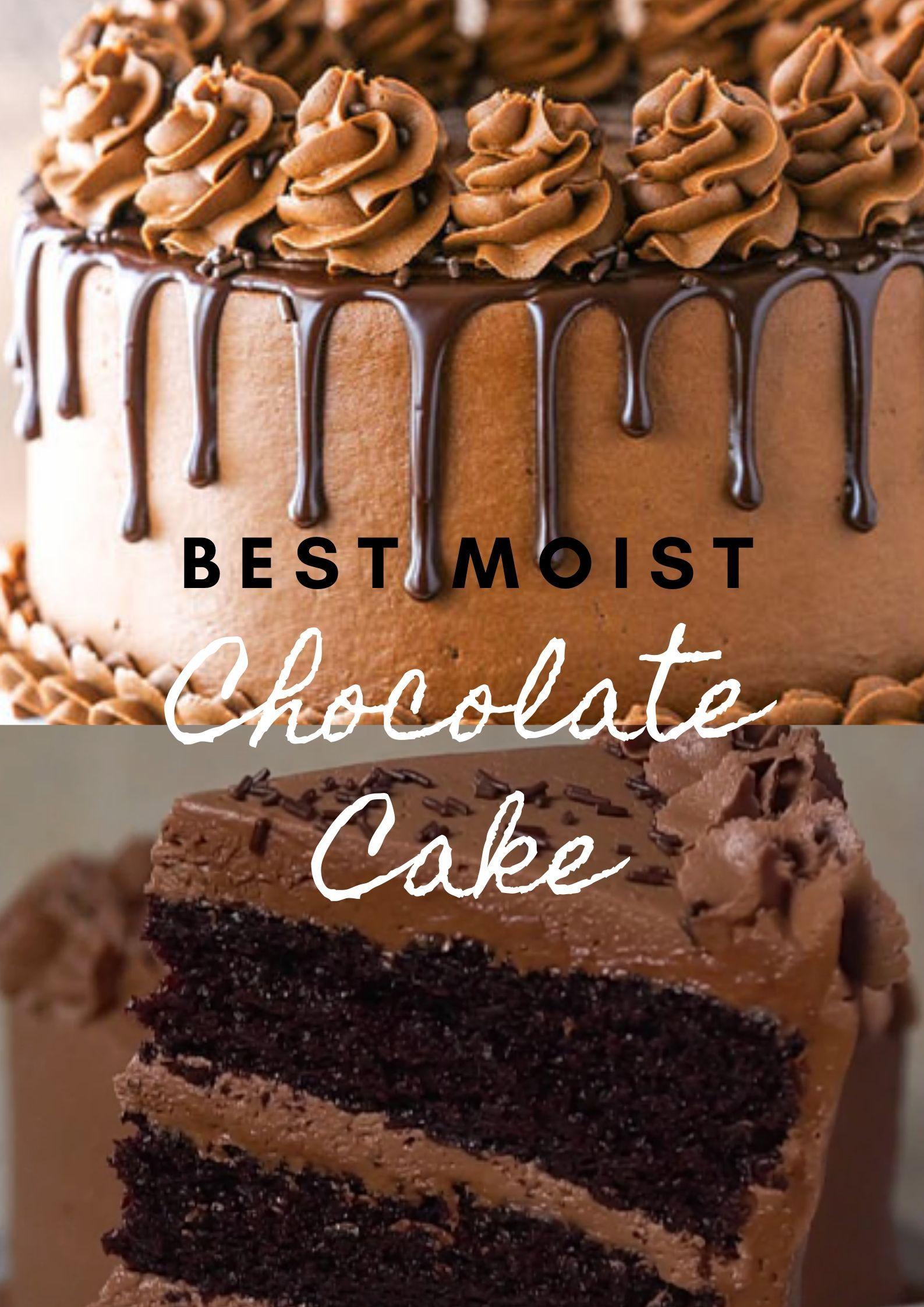 Best moist chocolate cake cake chocolate yummy in 2020
