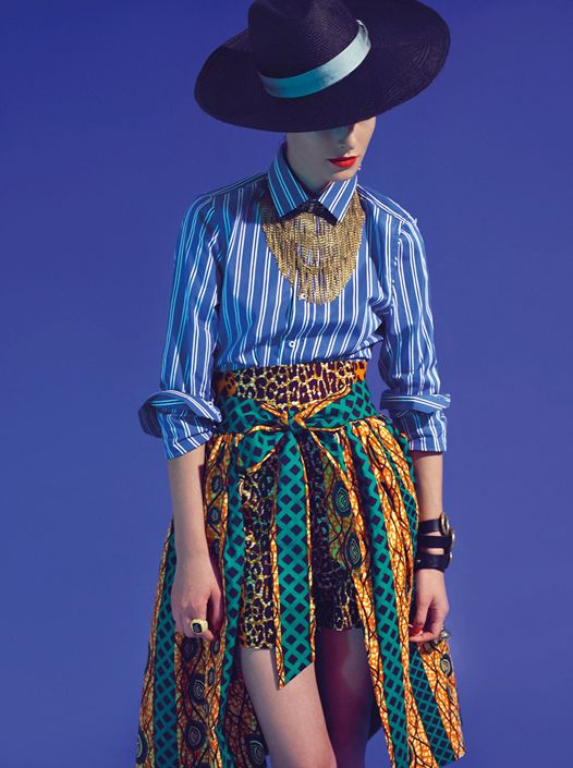 Stella Jean spring/summer 2013 - gangtsa skirt