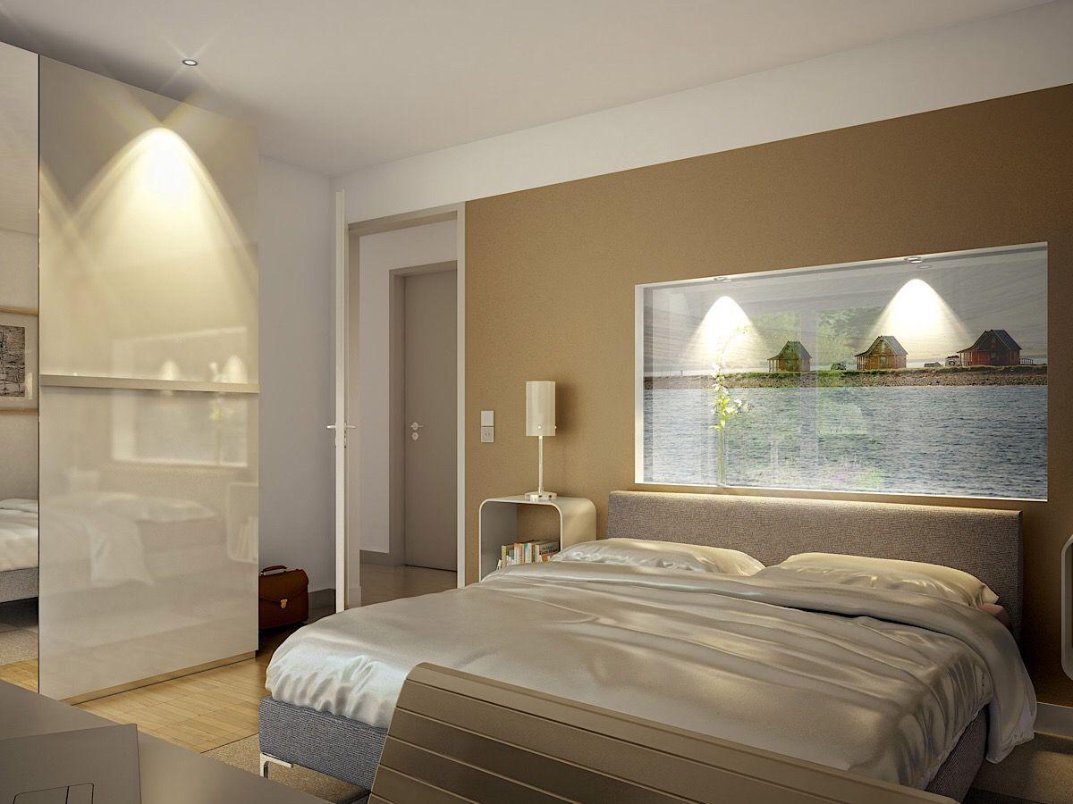 Modernes Schlafzimmer in den Farben beige grau - Bungalow ...