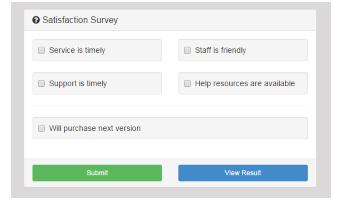 short survey template
