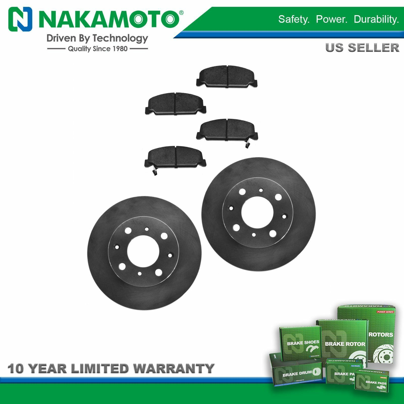 Brake Pads And Rotors Prices >> Nakamoto Front Disc Brake Pads Rotors Kit Set For Honda
