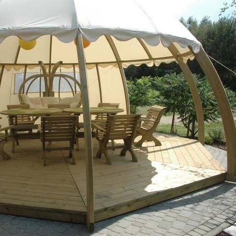 Cream Garden Igloo Pavillion , Spa Outdoor Furniture, Spa Living