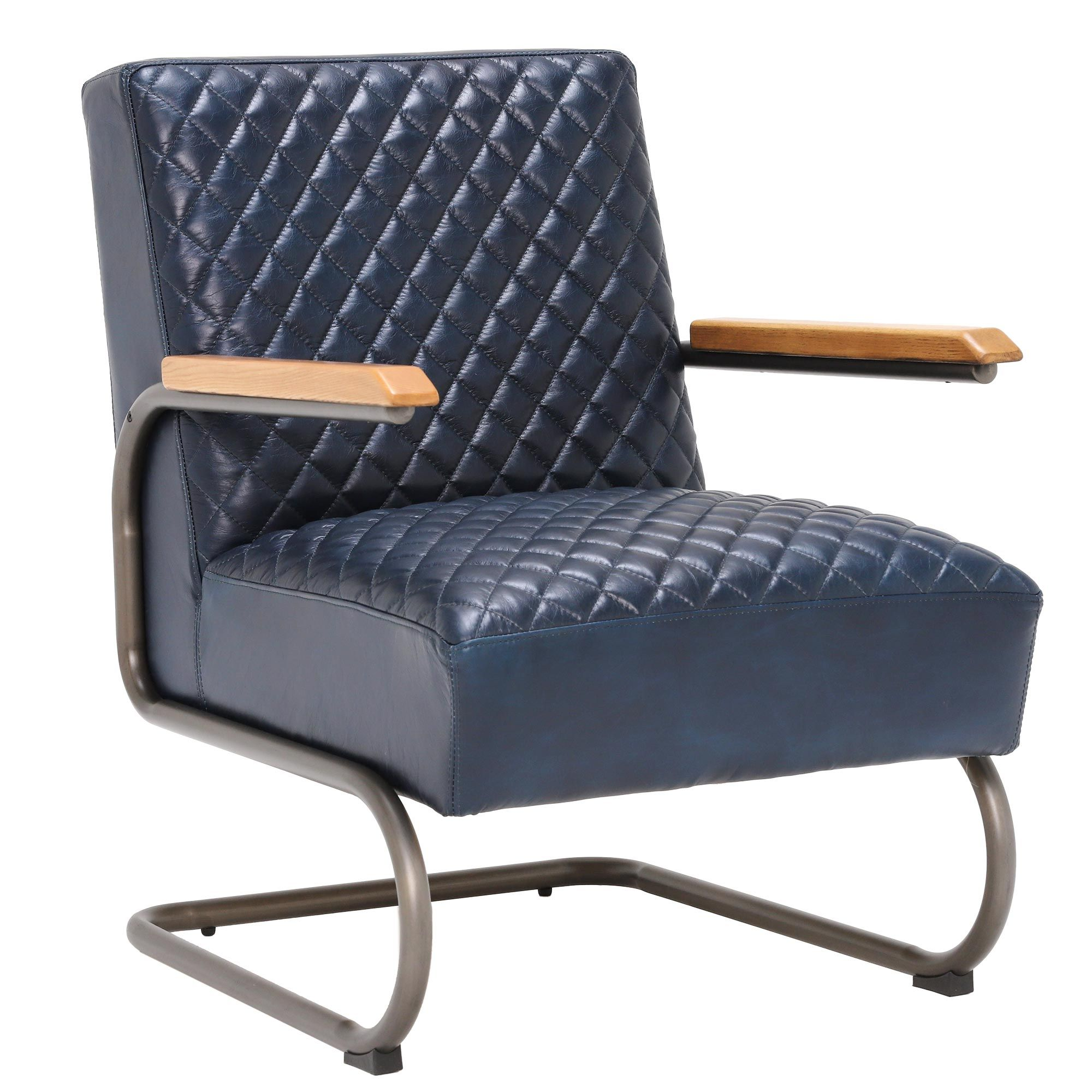Gisbourne Chair Chairs Living Room Blue Leather Chair Chair