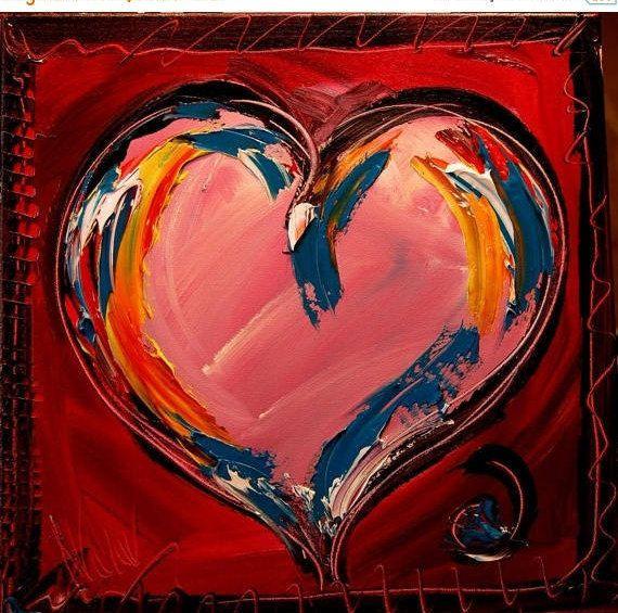 WOW WOW couteau texturé peinture abstraite originale Texture | Peinture de  coeur, Comment peindre, Peinture