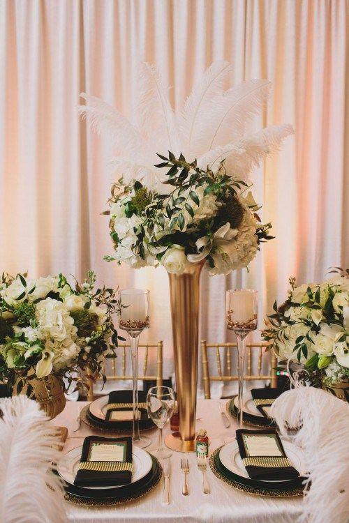 Great Ideas For An Elegant Black And Gold Wedding Color Theme Crazyforus
