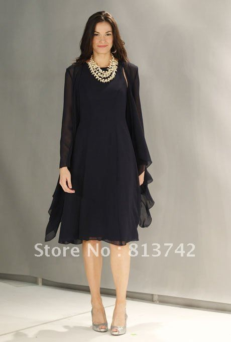 Sophisticated Navy Blue Mother Of The Bride Dresses Wedding