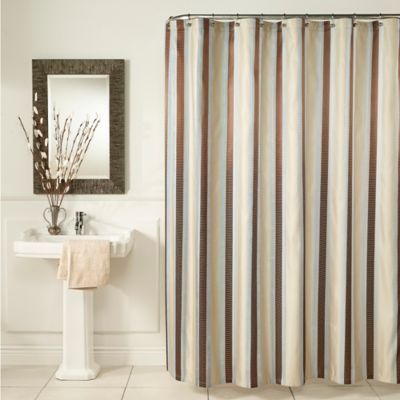 M Style Hudson Stripe Shower Curtain