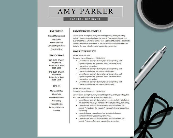Creative Professional Resume Template For Ms Word  Modern Resume