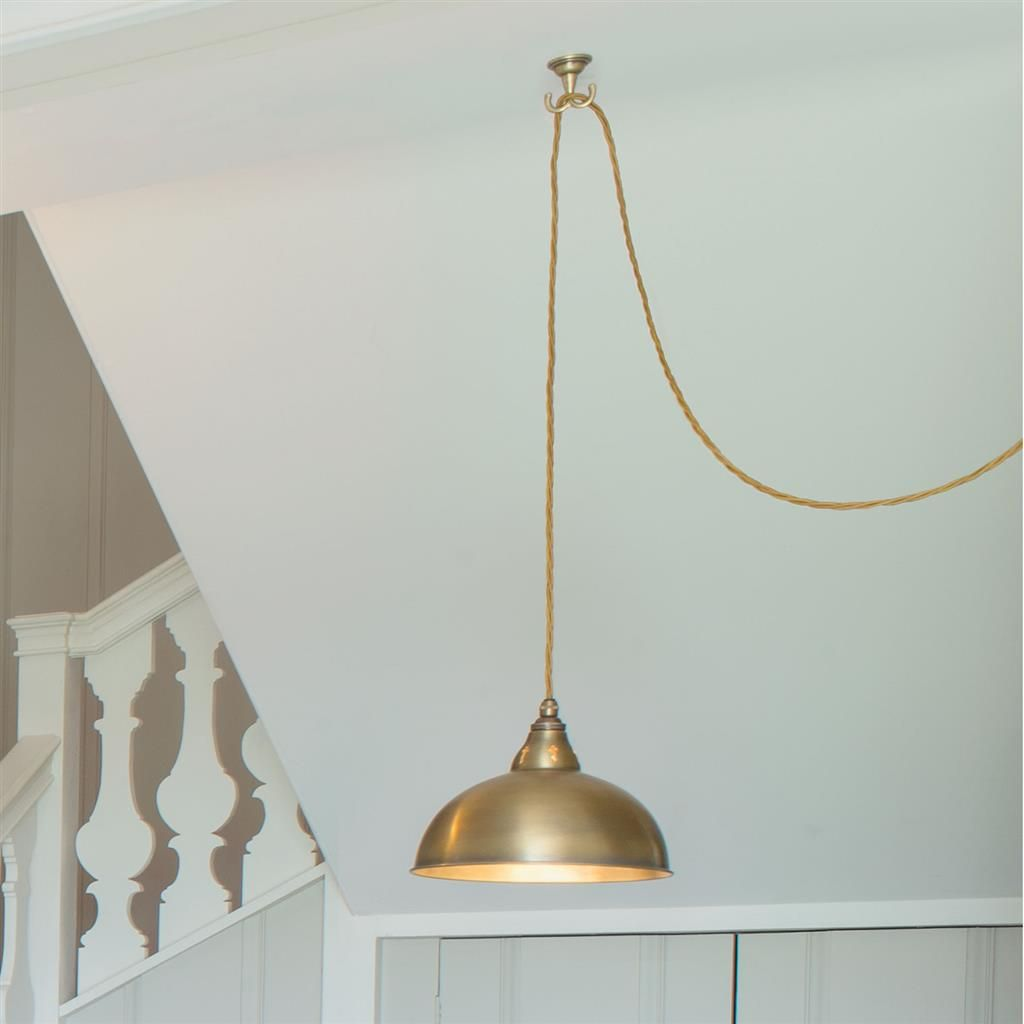 Pendant Flex Ceiling Hook In Antiqued Brass With Images Ceiling Lights Ceiling Pendant Lights