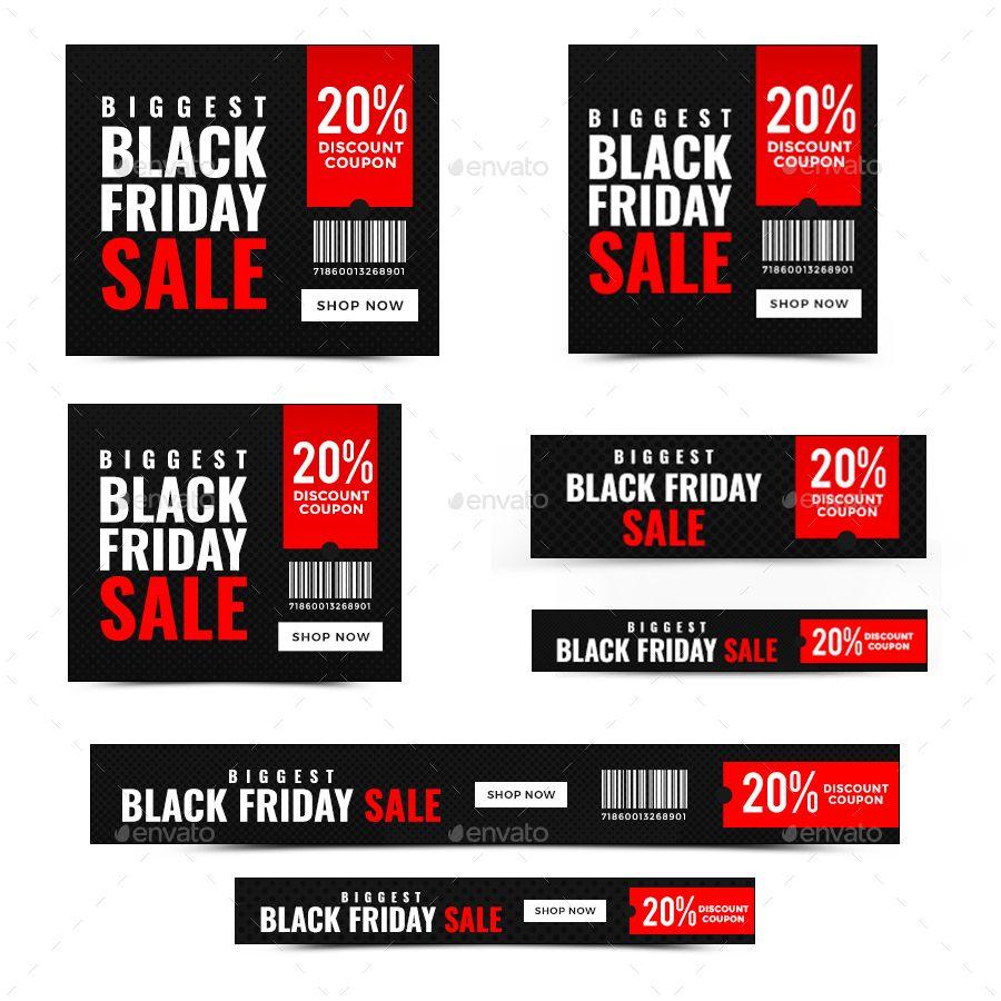 Black Friday Web Banner Set Web Banner Banner Ads Design Web Banner Design