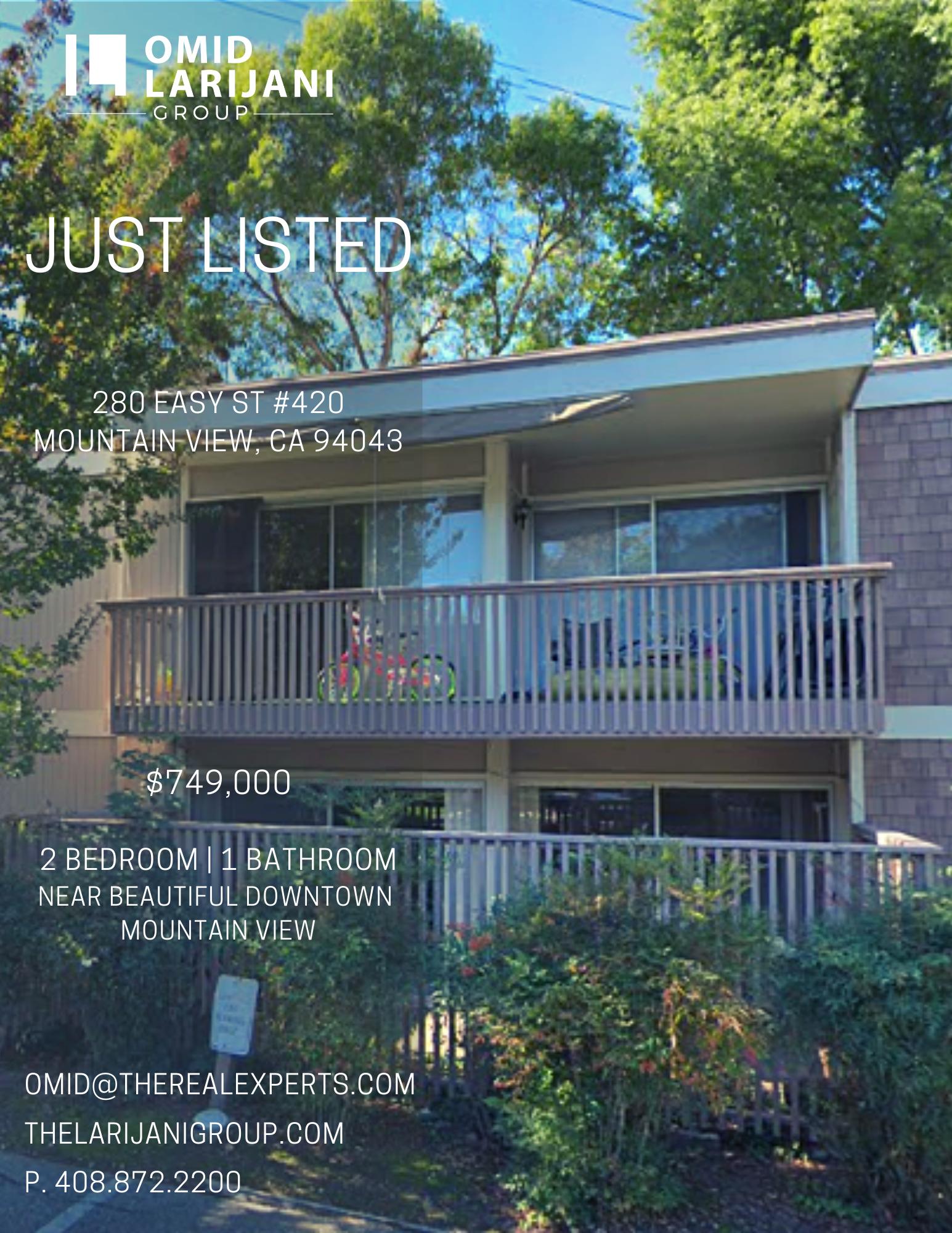JUST LISTED! 🏡  280 EASY ST UNIT 420 MOUNTAIN VIEW 94043    CALL 408.872.2200  #larijanigroup #realtor #realestate #properties #santaclara #sanjose #sunnyvale #cupertino #losgatos #willowglen #campbell #saratoga #mountainview #paloalto #milpitas #fremont #redwoodcity #houses #investor #investment #siliconvalley #siliconvalleyrealestate #siliconvalleyproperties #homesforsale #california #bayarea #realestatebroker #realestateinvestor #homebuyers