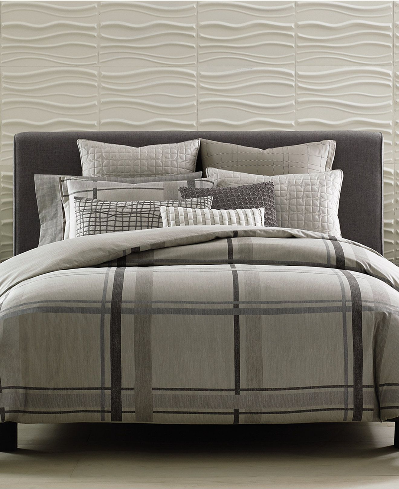 Closeout Modern Plaid Bedding Collection Created For Macy S
