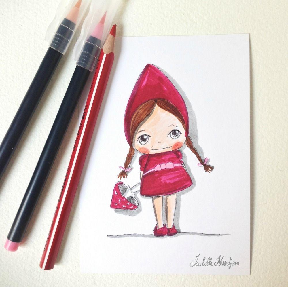 Isabelle Kessedjian: DESSINS   Dessin, Isabelle kessedjian, Le petit chaperon rouge
