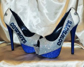 210822ee1df dallas cowboy high heel on Etsy, a global handmade and vintage ...