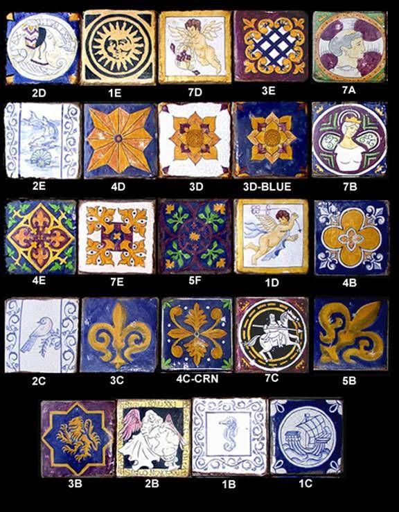 v3 handmade hand painted tile decos