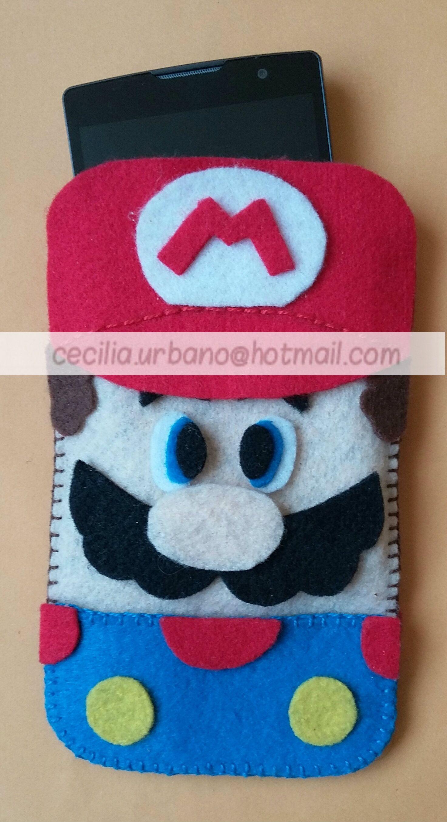 funda para celular Mario | Paño lenci | Pinterest | Fundas para ...