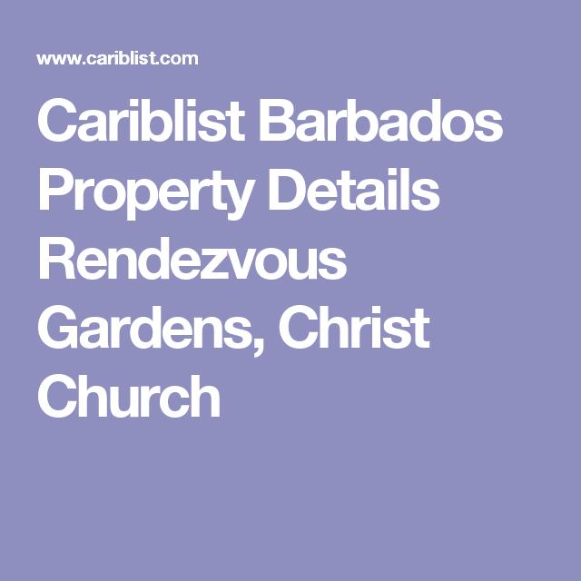 Cariblist Barbados Property Details Rendezvous Gardens, Christ Church