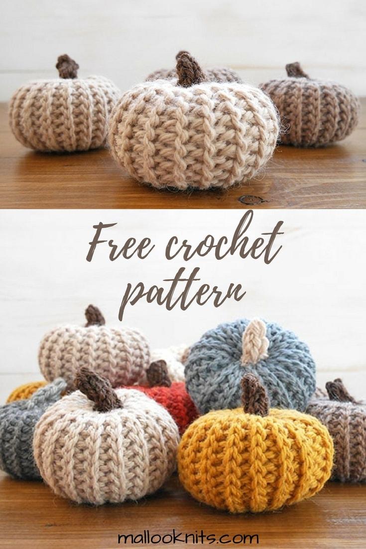 Comment faire d'adorables citrouilles au crochet qui ressemblent à du tricot – mallooknits.com   – Crochet Projects