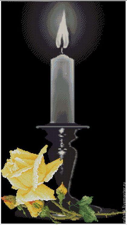 Вышивка бисером свеча