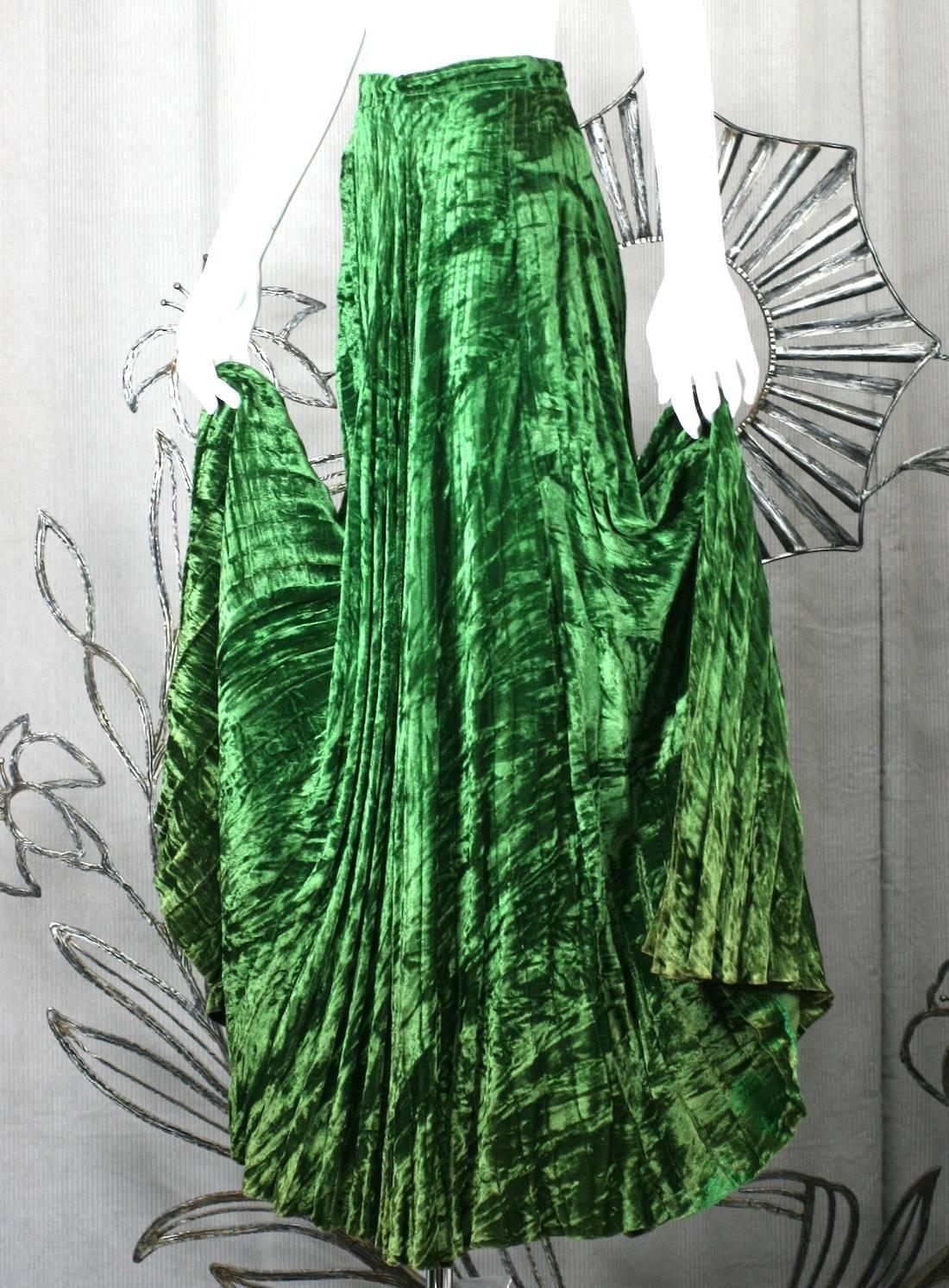 e5b7ebabc Yves Saint Laurent Rive Gauche Panne Velvet Maxi Skirt   From a collection  of rare vintage