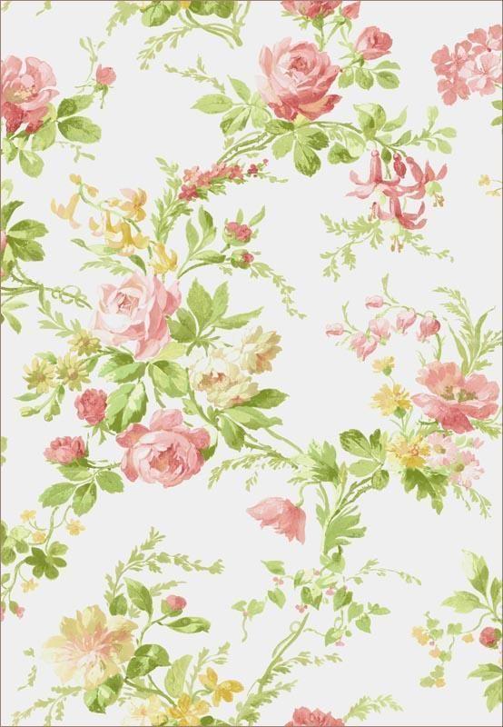 Wallpaper Cottage Floral Green Pink Warner New 2 Rolls Pre Pasted Ebay Floral Wallpaper Wallpaper Floral